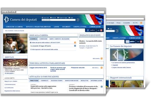 Realizzazione sito web della camera dei deputati clienti for Camera dei deputati sito ufficiale