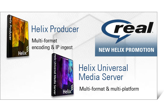 Promozione RealNetworks su Video Server ed Encoder per web e mobile