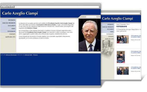 Realizzazione del sito web di Carlo Azeglio Ciampi - Clienti